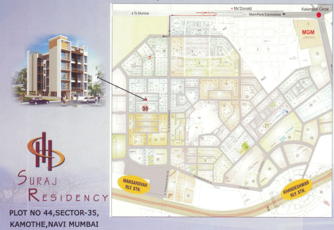 Suraj ResidencyLocation Map